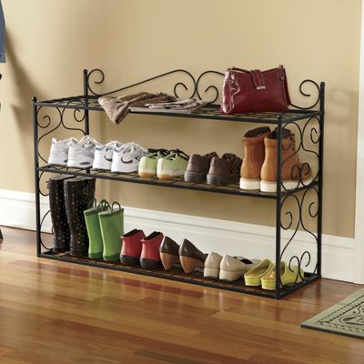 Scroll Shoe Rack