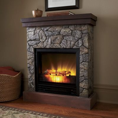 faux stone fireplace from home at five ku713773