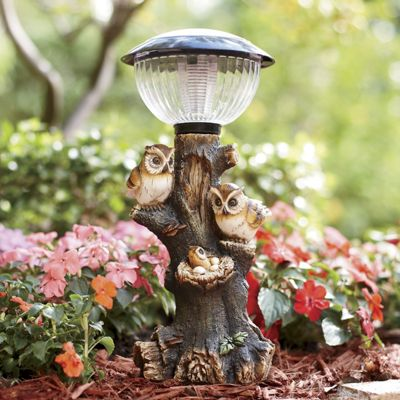 Owl Family Solar Light