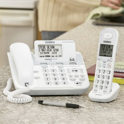 Uniden Loud & Clear Corded/cordless Phone Set with Digital Answering System