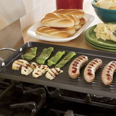 Rachael Ray Hard-Anodized Double Grill