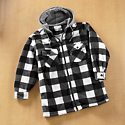 Plaid Fleece Hooded Jacket