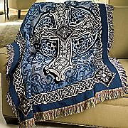 Cross Tapestry Throw