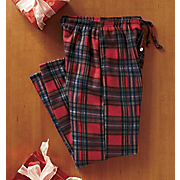 Fleece Plaid Pants