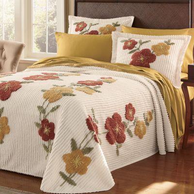 Flowering Vine Chenille Bedding