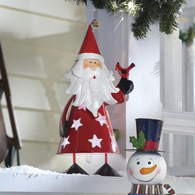 Solar Santa Bobble Light