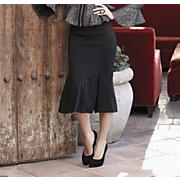Fishtail Ponte Knit Skirt