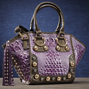 stud croc metallic bag