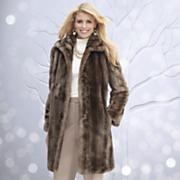 Cappuccino Mink Faux Fur Coat