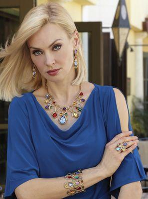 Multicolor Teardrop Jewelry