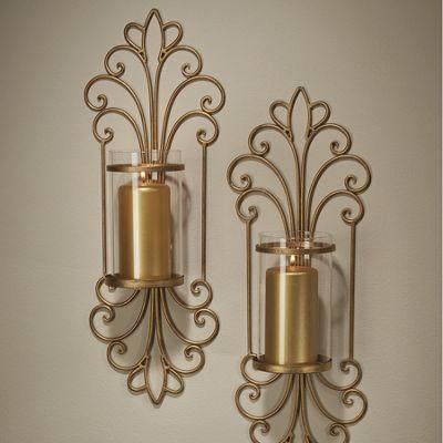Monte Cristo Golden Glass Sconces