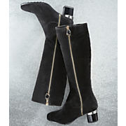 Midnight Velvet Gold Bling Boot