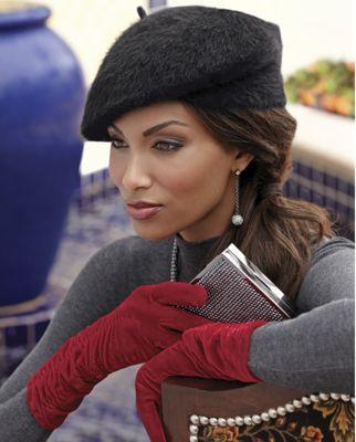 Velvet Shirred Gloves