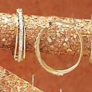 Diamond 3-Row Hoops