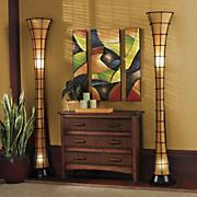 Lighting stained glass swag wall lights midnight velvet for Diy glass floor lamp