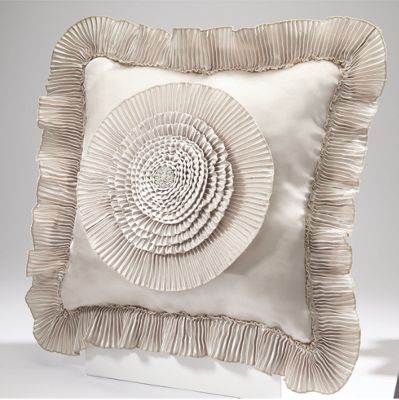 Bejeweled Romance Square Pillow