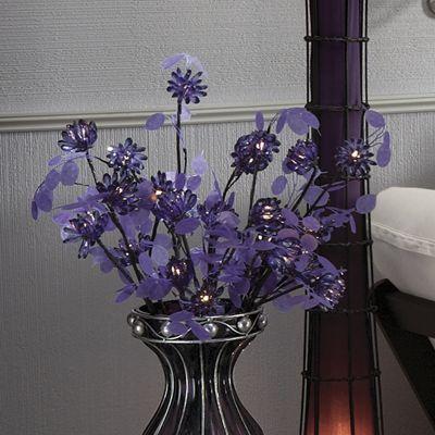 Purple Lit Flowers