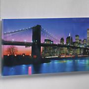 lit cityscape art