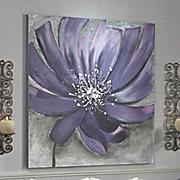 midnight blossom oversized purple flower art