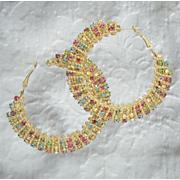 multicolor crystal wrap hoops