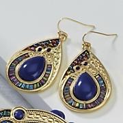 Santorini Teardrop Wire Earrings