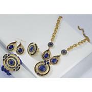santorini blue beaded jewelry