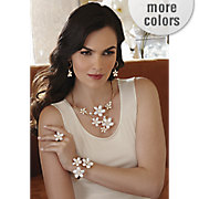 faux pearl floral jewelry