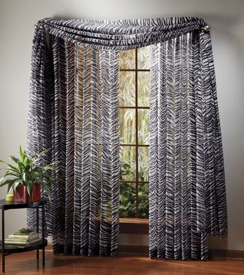 animal print sheer window treatments from montgomery ward