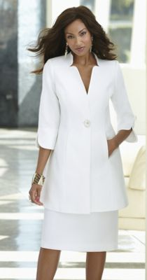 Smooth Sailing Duster Skirt Suit