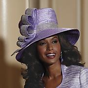 silver ribbon hat