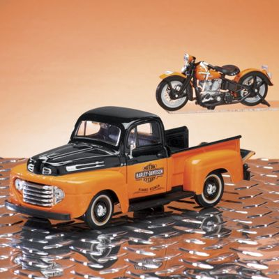 1948 Ford F-1 Pickup with Motorcycle