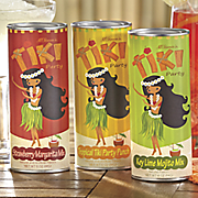 3 pc  tiki party drink mix set