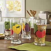 4-Piece Veggie Glass...