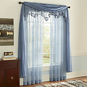 Monte Carlo Voile Panel, Valance & Scarf