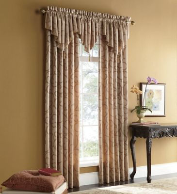 Vintage scroll window treatments from midnight velvet for Window scroll