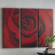 3-piece Red Rose Art...