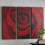 3-piece Red Rose Art Set