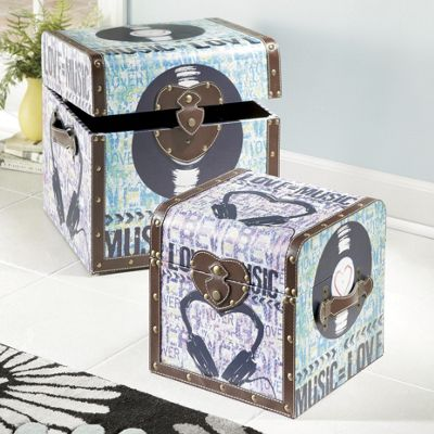 Set of 2 Etta Music Trunks