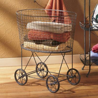 Vintage Rolling Laundry Cart From Ginny S J9700459