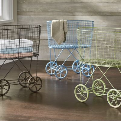 Vintage Rolling Laundry Cart From Seventh Avenue Dw700459