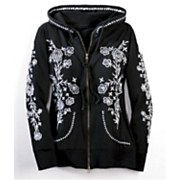 Embroidered Zip Hoodie