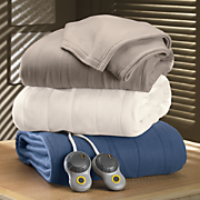Quilted Fleece Electric Blanket By Sunbeam