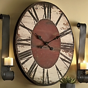 Grand Antiqued Clock