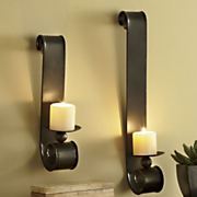 Set Of 2 Scrolled Candle Sconces