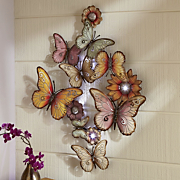 Lighted Butterfly Garden Wall Art