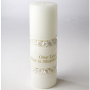 One Love Shared by Two Wedding Candle