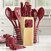 25 pc serrated cutlery utensil set