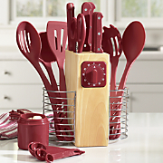 25 pc serrated cutlery utensil set