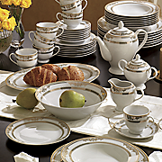 47 piece Regency Gold Dinnerware Set