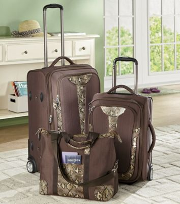 3-piece Copper Python Luggage Set